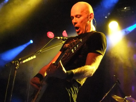 Wolf Hoffmann on guitars with Accept
