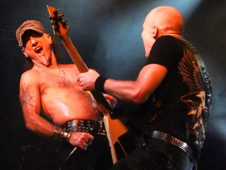 Mark Tornillo and Wolf Hoffmann with Accept live in France