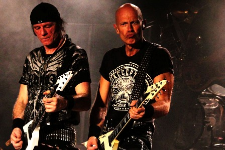 Herman Frank and Wolf Hoffmann on Guitars with Accept