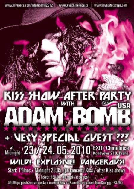 Poster from Adam Bomb live at Exit Chmelnice in Prague