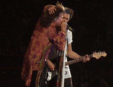 Steven Tyler and Jo Perry - Aerosmith live in Paris