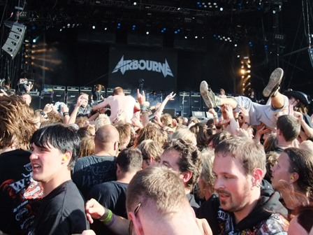 Tony Portaro from Airbourne live at Wacken Open Air