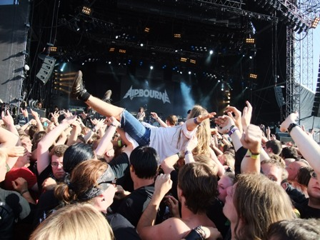 Richi Day and Tony Portaro with Airbourne in Wacken