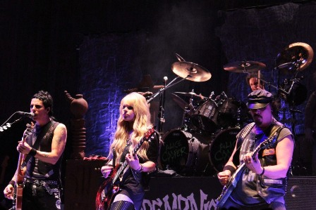 Tommy Henriksen, Orianthi and Steve Hunter: Allice Cooper's three guitar players