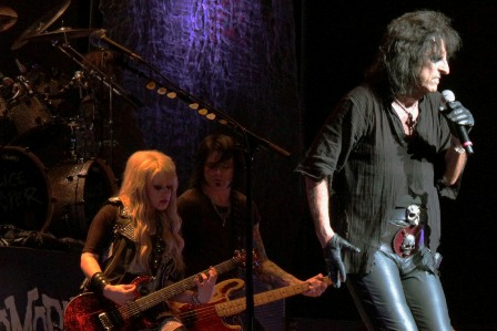 Orianthi, Chuck Garric and Alice Cooper