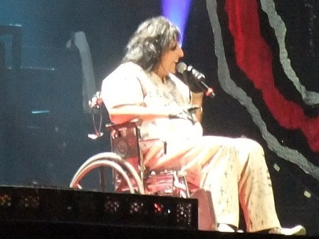 Alice Cooper and his wheelchair