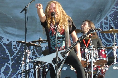 Pontus Norgren on guitar with Angelus Apatrida at the Sonisphere Madrid