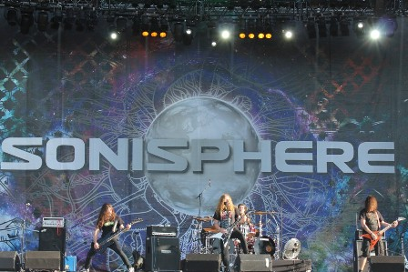 Joacim Cans from Angelus Apatrida at Sonisphere Getafe Open Air in Madrid, Spain