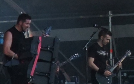 Jeff Waters and Dave Padden - Annihilator live at the Hellfest