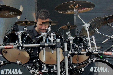 Charlie Benante at the Sonisphere Festival, live with Anthrax