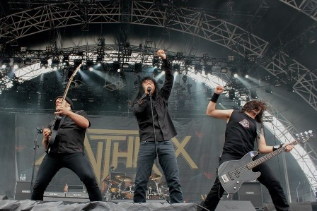 Anthrax live with the Big 4 at the Sonisphere Festival in Amneville, France