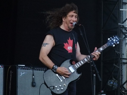 Lips from Anvil live at Hellfest in Clisson