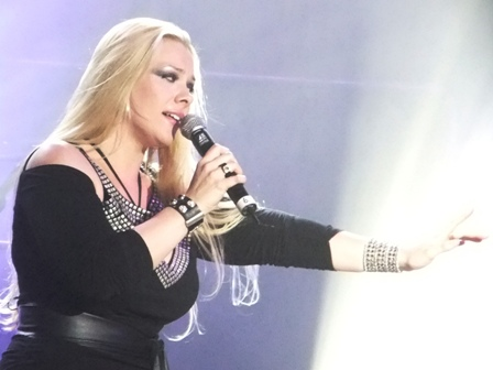 Amanda Somerville from Aina live in Fulda with Avantasia
