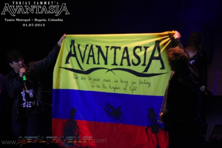 Avantasia and the Colombian flag