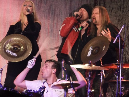 Amanda Sommerville, Felix Bohnke, Michael Kiske and Jørn Lande with Avantasia live in Germany