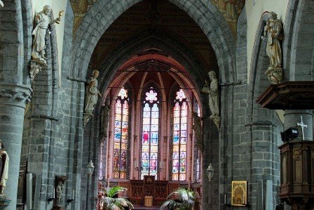 Inside the Our Lady church of Deinze