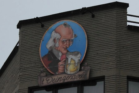 The local Deinze Beer ad
