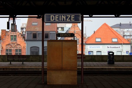 Train station of Deinze, Belgium