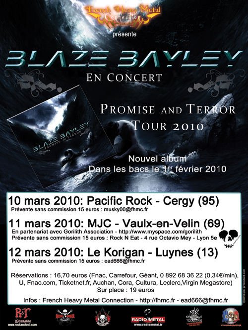 Primise and Terror Tour by Blaze Bayley in France