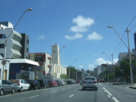On the road in Salvador, Brazil