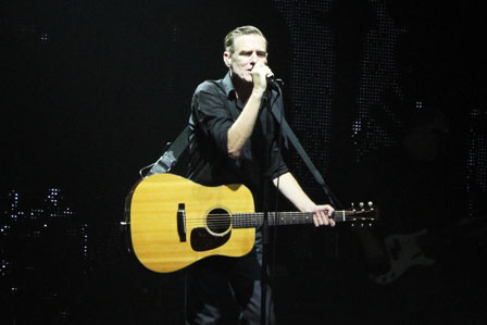 Bryan Adams with his acoustic guitar