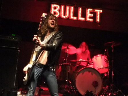 Adam Hector on bass with Bullet live in Essen