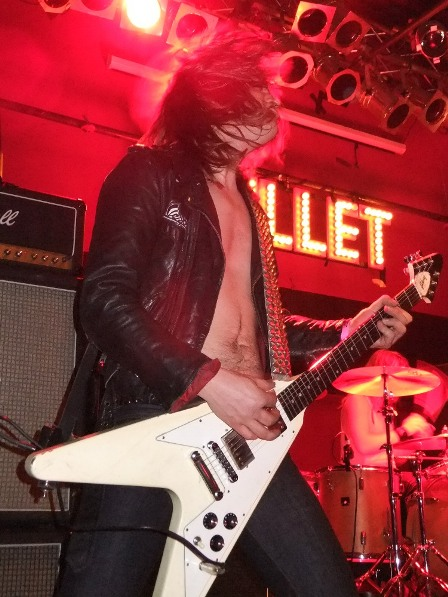 Hampus Klang headbanging - Bullet on stage in Germany