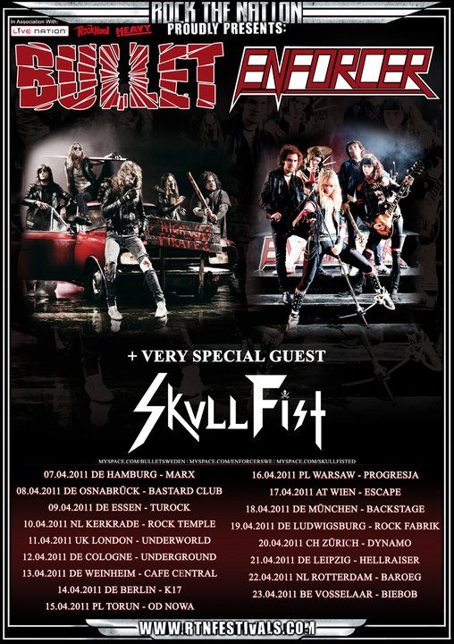 Enforcer European Tour poster with Bullet