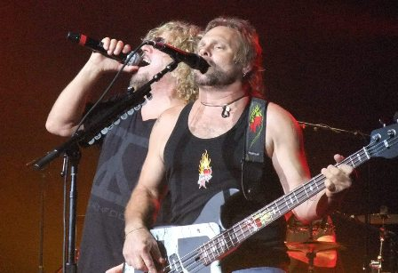 Sammy Hagar and Michael Anthony from Chickenfoot in Paris - June 29 2009