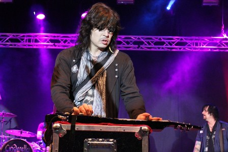 Tom Keifer playing a Pedal Steel Guitar with Cinderella