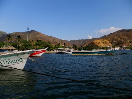 The bay of Taganga, Colombia