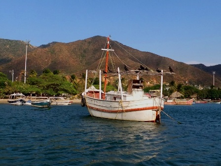 Boats on the bay of Taganga, Colombia