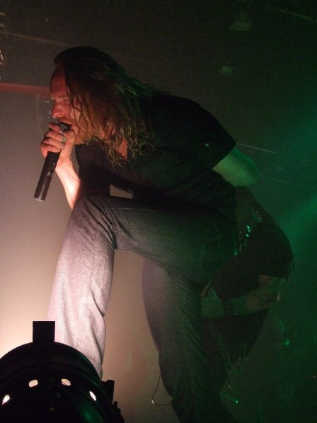 Mikael Stanne of Dark Tranquillity singing in Paris