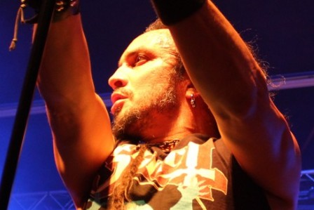 Mark Osegueda at the Alcatraz Metal Festival, live with Death Angel