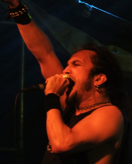 Mark Osegueda with Death Angel at the Thrashfest Live at the Elysée Montmartre in Paris, France