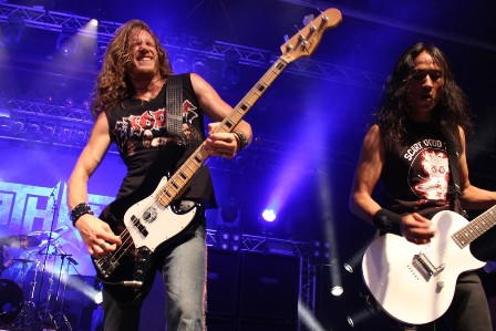 Damien Sisson and Ted Aguilar - Death Angel live at Alcatraz Metal Festival Belgium with Death Angel