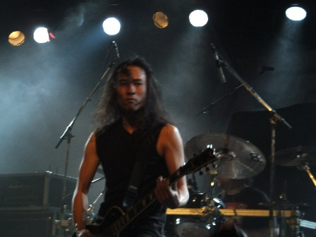 Ted Aguilar with Death Angel in Paris