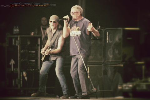Roger Glover and Ian Gillan from Deep Purple live in Clisson