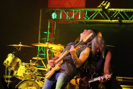 Roger Glover and Steve Morse live with Deep Purple