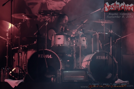 Wawrzyniec Dramowicz from Destruction live in Colombia