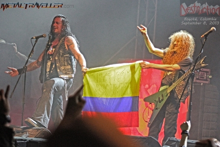 Destrction holding the Colombian flag