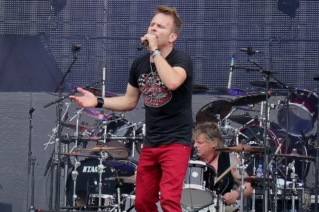 Nick Tart and Karl Wilcox at the Sonisphere Festival, live with Diamond Head