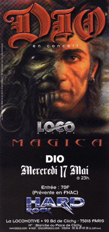 Dio live at La Locomotive in Paris