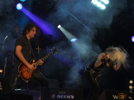 Luca Princiotta and Doro Pesch