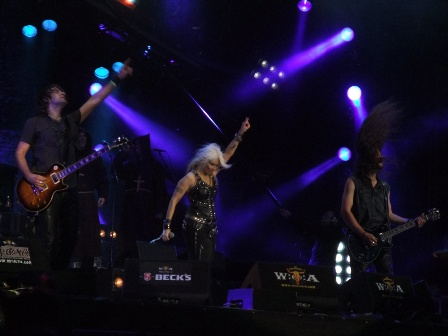 Doro Pesch and her hand live at Wacken