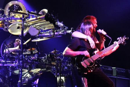 Mike Mangini, John Myung and James Labrie from Dream Theater
