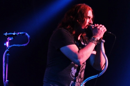 James Labrie singing with Dream Theater