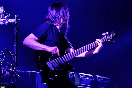 John Myung on bass - Dream Theater live in Paris