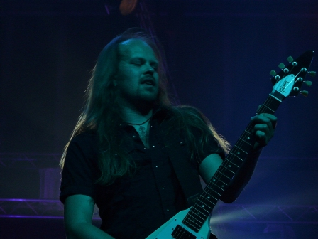Dirk Sauer on guitars - Edguy live in concert, PPM Fest in Mons