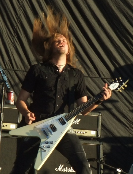Dirk Sauer from Edguy headbanging in Valencia